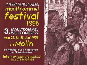 International Jew's Harp Festival 1998 - Plakat